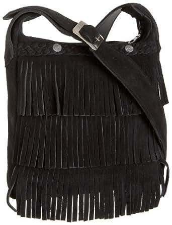 Minnetonka Fringe Handbag,Black