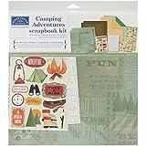 Karen Foster Design Themed Paper and Stickers Scrapbook Kit, Camping Adventures
