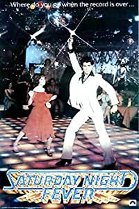 Saturday Night Fever Classic Huge Film PAPER POSTER measures approximately 100x70 cm Greatest Films Collection Directed by John Badham. Starring John Travolta, Karen Lynn Gorney, Paul Pape.