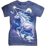 The Mountain Cotton Unicorn Star Design Novelty Womens T-Shirt