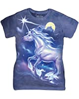 The Mountain Cotton Unicorn Star Design Novelty Womens T-Shirt