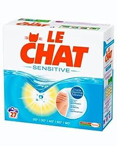 Le Chat - Sensitive - Lessive en Poudre - Boîte 2,16 kg / 27 Lavages