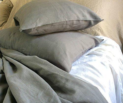 Details for Medium Grey Duvet Cover, Medium Grey Linen Duvet Cover, Grey Bedding, Custom Bedding, Linen Bedding, Queen Duvet Cover, King Duvet Cover, Twin Duvet Cover, FREE SHIPPING