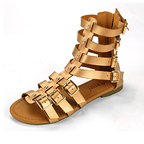 Bronze Wedge Sandals front-1029509