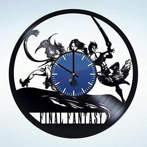 Final Fantasy Anime Handmade Vinyl Record Wall Clock Get