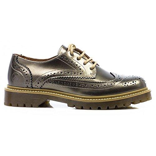 Bronx Womens 65336-C Oxford Bronze Leather Shoes 37 EU