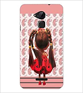 PrintDhaba Cute Doll D-5749 Back Case Cover for COOLPAD NOTE 3 LITE (Multi-Coloured)