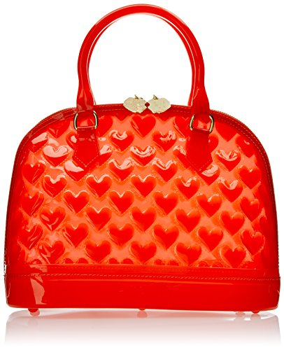 Luv Betsey by Betsey Johnson Jelly Mini-Dome Handbag Top Handle Bag, Red, One Size