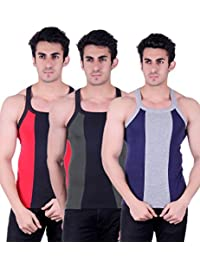 Zimfit Gym Vest - Pack Of 3 (Blue_Green_Red) - B01AO0K9XI