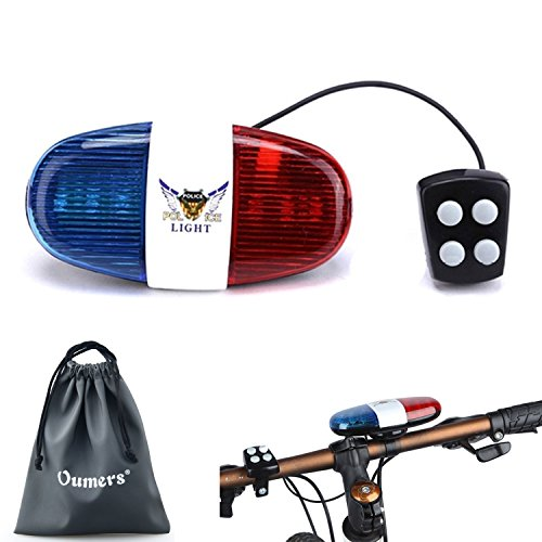 Oumers-Bike-LED-light-Police-Sound-Light-Electric-Horn-Siren-Bicycle-Horn-Bell-5-LED-Light-4-Sounds-Trumpet-Warning-Safety-Light-Waterproof-Bicycle-Lights-Accessories-No-Batteries-in