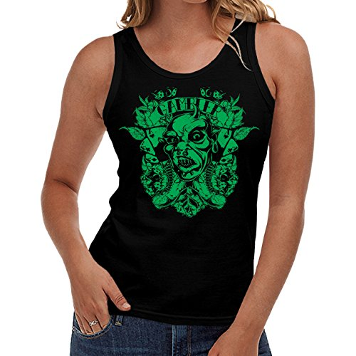 Wellcoda | Gambler Master Monsters Game Womens NEW Tank Top Black S-2XL