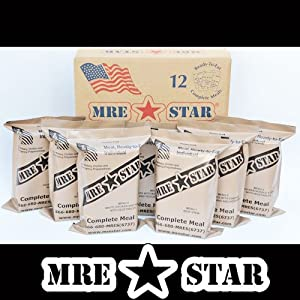 MRE STAR Full Meal Kits with Heaters - Case of 12 (Civilian MRE) by MRE Star