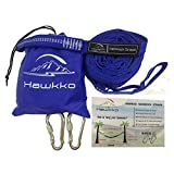 Hawkko XL Hammock Straps - Includes 2 Straps, 2 Carabiners, 1000+ LBS Strength, 32 Loops & 20 Feet Extra Long Polyester Hammock Accessories