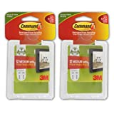 3M Command Medium Picture Hanging Strips, White - Pack of 24