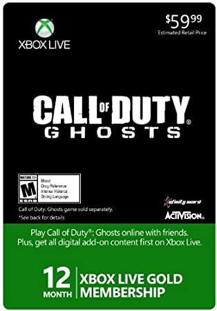 Xbox LIVE 12 Month Gold for Call of Duty: Ghost [Online Game Code]