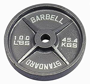 USA Sports Gray Olympic Plate - 100 lbs.