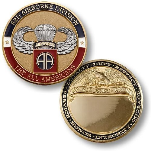 82nd Airborne Basic Jump Engravable Challenge Coin
