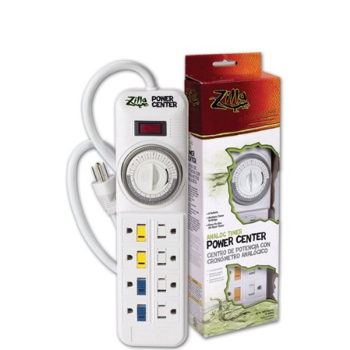 Zilla Reptile Habitat Lighting & Terrarium Heat Power Center, Analog (Zilla Analog Timer Power Center compare prices)