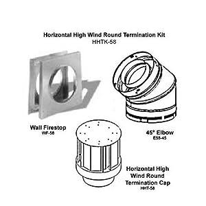 Comfort Flame HHTK-58 Fireplace Direct-Vent Horizontal Round Termination Kit