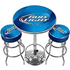 bud light ultimate gameroom combo 2 bar stools pub. Black Bedroom Furniture Sets. Home Design Ideas