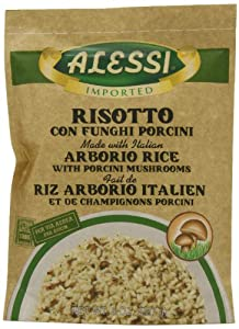 Alessi Funghi Risotto with Porcini Mushrooms, 8-Ounce Packages (Pack of 6)