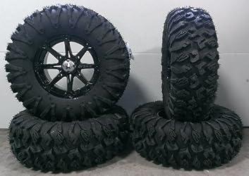 MSA Black Diesel 14″ ATV Wheels 30″ EFX MotoClaw Tires Polaris Ranger 900 XP