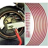 バイクホイールリムステッカー ホンダ スーパーカブ110 バラエティーカラー レッド