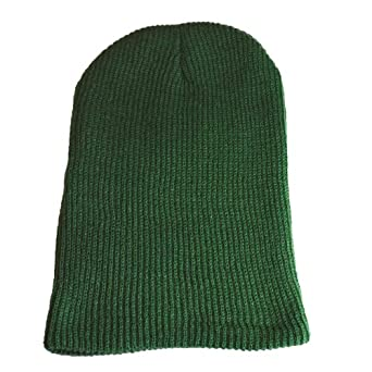 MB Oversized Baggy Fit Slouch Style Beanie Beany Cap - 6 New Colours (Army Green)