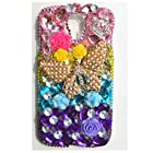 EVTECH(TM) 3D Handmade Rhinestone Series Crystal Diamond Design Case Clear Cover for Samsung Galaxy S4 9500 9505 M919,SCH-R970X,Samsung Galaxy S4 C Spire,Samsung Galaxy S4 AT&T,Samsung Galaxy S4 Cricket,SGH-i337,SCH-R970C,Samsung Galaxy S4 LTE+,GT-i9506; I9506,SHV-E330S; SHV-E330K; SHV-E330L,Samsung Galaxy S4 LTE-A,Samsung Galaxy S4 Sprint,SPH-L720,SGH-M919,T-Mobile,Samsung Galaxy S4 U.S. Cellular,(not fit S4 active version) (100% Handcrafted)