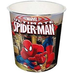 poubelle corbeille spiderman marvel chambre enfant garcon cuisine maison. Black Bedroom Furniture Sets. Home Design Ideas