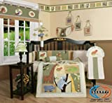 Boutique Brand New GEENNY Safari, Jungle Animals 13PCS CRIB BEDDING SET