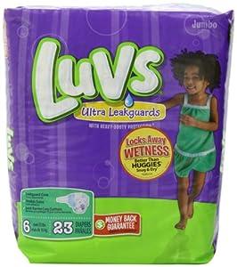 Luvs Ultra Leakguards - Jumbo Pack Size 6
