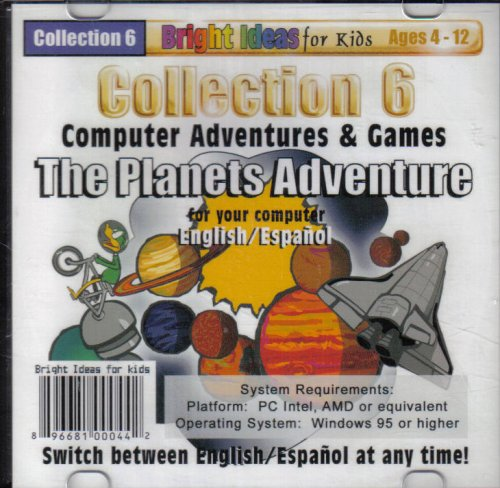 Collection 6 Computer Adventure & Games The Planets Adventure (ages 4-12)
