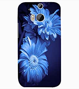 ColourCraft Beautiful Flowers Design Back Case Cover for HTC ONE M8