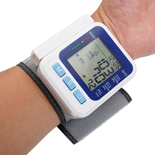 Yoshioe Automatic LCD Digital Portable Wrist Blood Pressure Monitor with Heart Rate Meter,Two User Modes, IHB Indicator and Memory Recall (Blood Pressure Testing Machine compare prices)