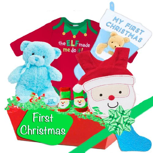 Baby Boutique Baby's First Christmas Gift Basket Size: Newborn-6 mth