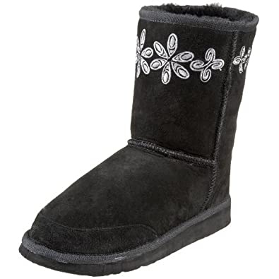 Aussie Dogs Women's Groovster Short Boot,Black,9/10 M US
