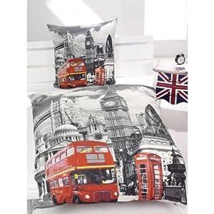 Housse de couette reversible london bus jeux - Housse de couette london 2 personnes ...