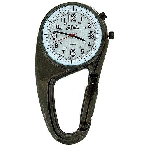 Tocs Watches promotion: Relda Clip On Doctors Nurses Unisex Carabiner – Backlight Pocket Fob Watch REL03