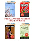 Four Japanese Reader Paperback Lot Hikoichi, Inch-High Samurai, Momotaro, and Shitakiri Suzume