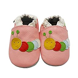Sayoyo Baby Caterpillars Soft Sole Pink Leather Infant And Toddler Shoes 12-18Months