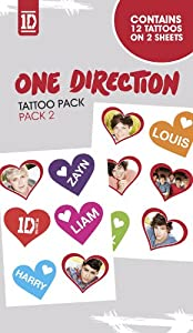 Official One Direction 1d Temporary Tattoos - Pack 2 from Global Merchandising