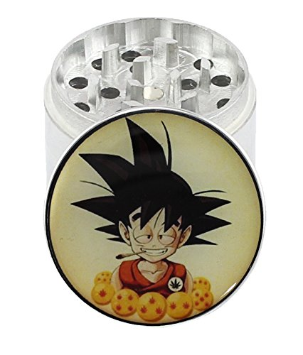 GOKU-Dragon-Ball-Z-20-4-Layer-Aluminum-Herb-Spice-Grinder-with-Pollen-Screen-Top-Covered-with-Clear-Doming