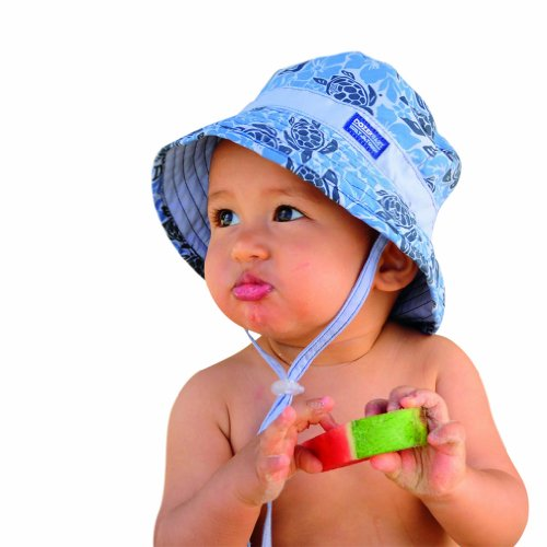 Dozer Boys Reversible Microfiber Sun Hat Bucket turtle Camo, UPF50+ (Infant 0-12 Months)