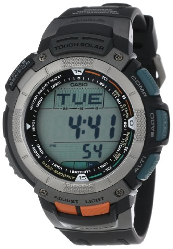 Casio Men's PAG80-1V Pathfinder Altimeter/Barometer/ Digital Compass Solar Digital Watch