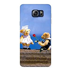 Stylish Proposal Teddy Multicolor Back Case Cover for Galaxy Note 5