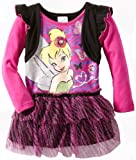 Disney Girls 2-6X Tinkerbell 1 Pieced Fairy Dress