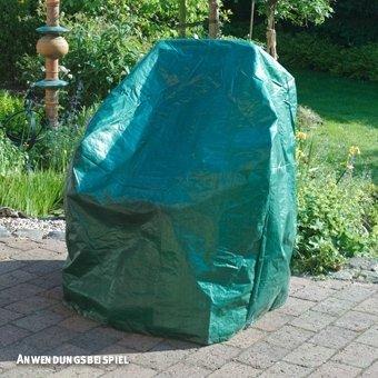 Videx-PE Gartenmöbel Schutzhülle für 4 Stapelstühle, grün, Höhe:110 x Breite:66 x Tiefe:66 cm