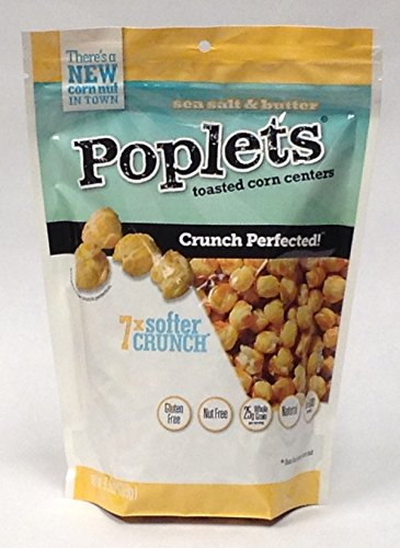 Poplets Toasted Corn Centers, Sea Salt, 2.7 Ounce (Pack of 8)