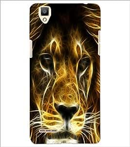 PrintDhaba Digital Lion D-2094 Back Case Cover for OPPO F1 (Multi-Coloured)